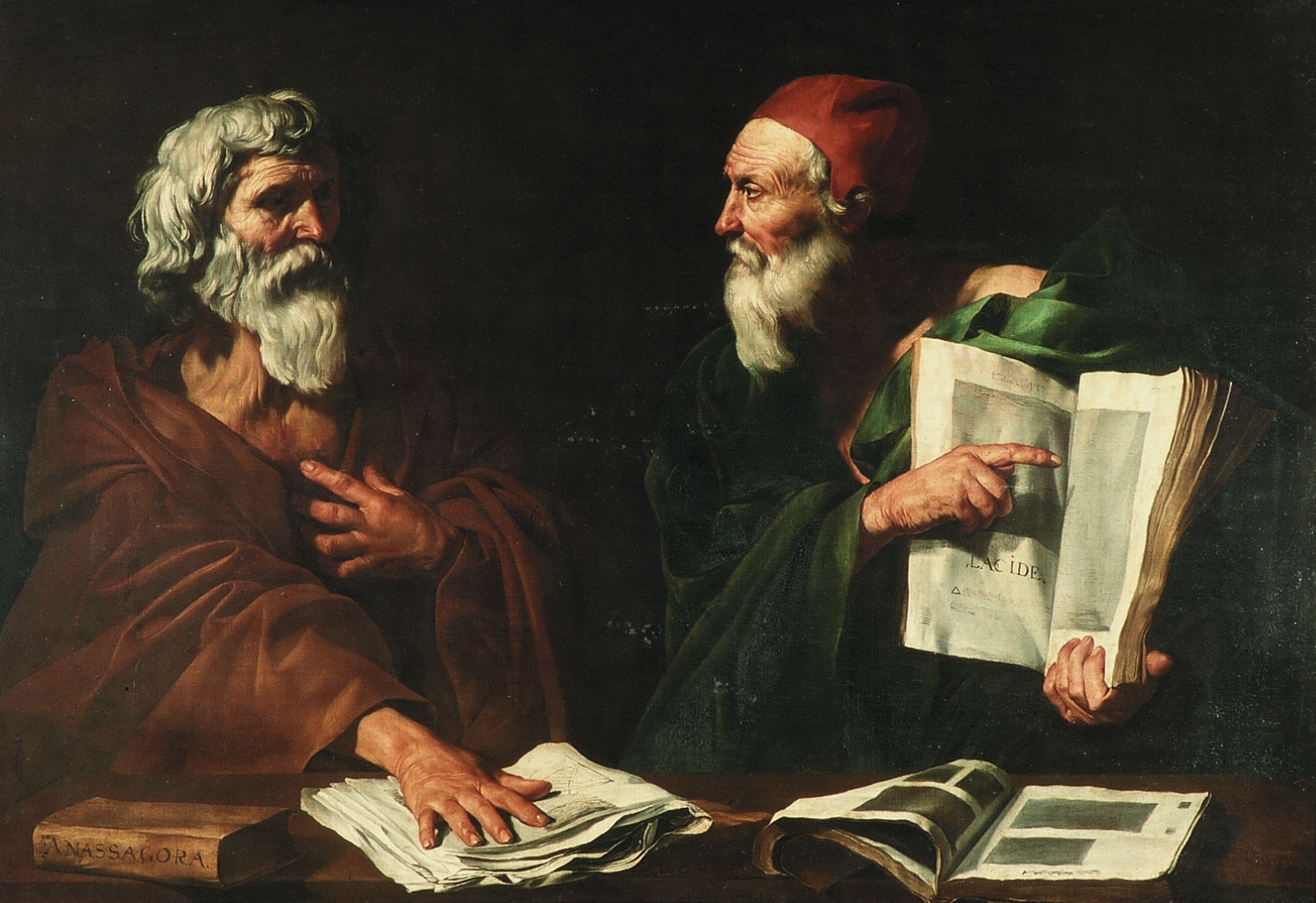 Jusepe Ribera, Dispute des philosophes